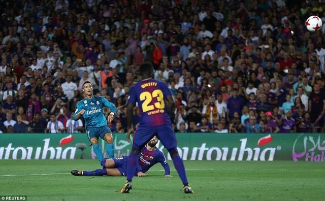 Trước khi bị đuổi, Ronaldo đã lập siêu phẩm ở phút 80
