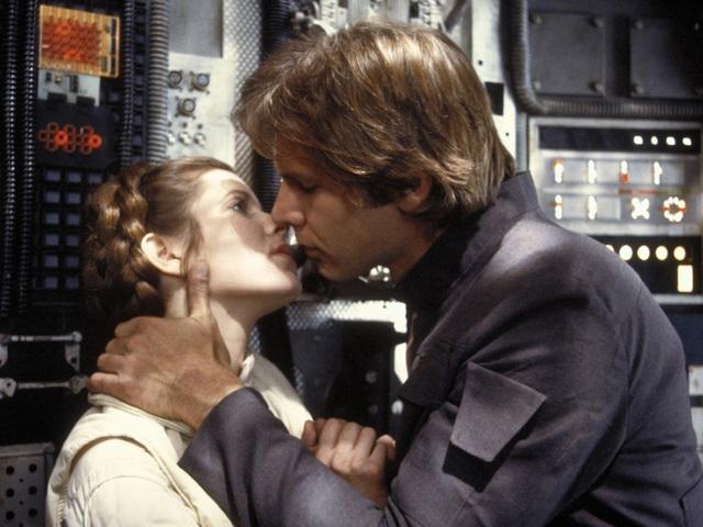 """Ở vị trí thứ 10 là nụ hôn trong """"Star Wars Episode V"""" (Chiến tranh giữa các vì sao V: Đế chế phản công - 1980) giữa Han Solo và công chúa Leia."""