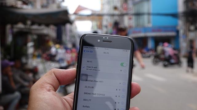 Khu vực trung tâm thành phố có phục vụ wifi miễn phí