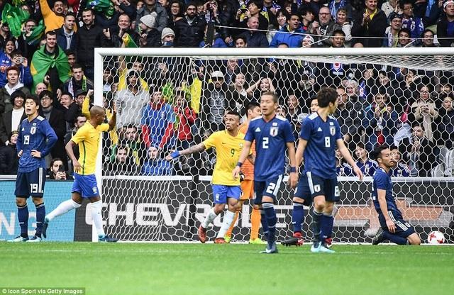Brazil đã dễ dàng xây dựng thế trận áp đảo trước Nhật Bản