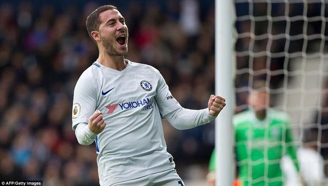 Hazard lập cú đúp trong chiến thắng của Chelsea