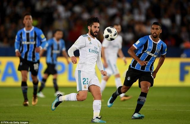 Real Madrid đã đối diện những khó khăn nhất định ở hiệp 1