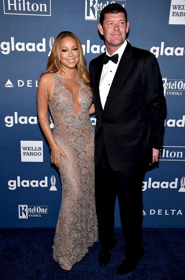 Nữ ca sĩ Mariah Carey và doanh nhân người Úc James Packer
