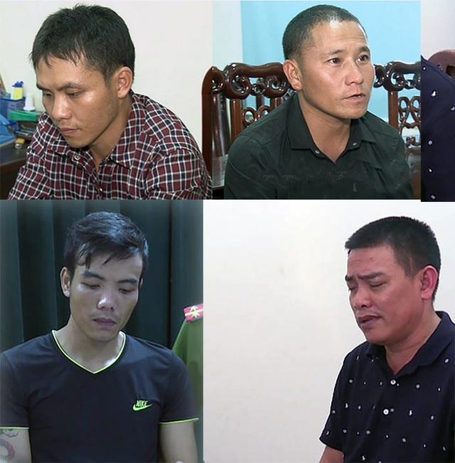 Các đối tượng bị bắt trong hai chuyến án ma túy (Ảnh: MK - NTV)