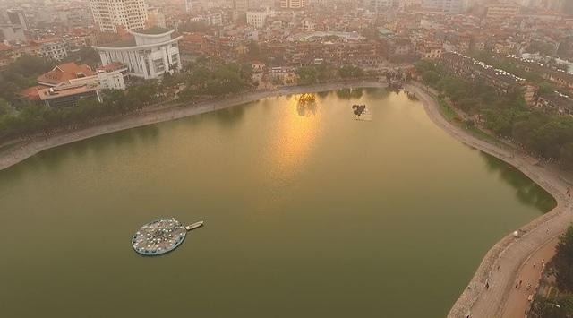 Toàn cảnh hồ Thành Công trước đề xuất cho lấp để xây nhà - 5