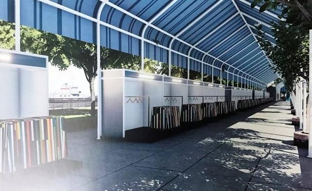 Chợ phiên gồm 4 khu, 120 gian hàng với diện tích khoảng 3.200 m2.