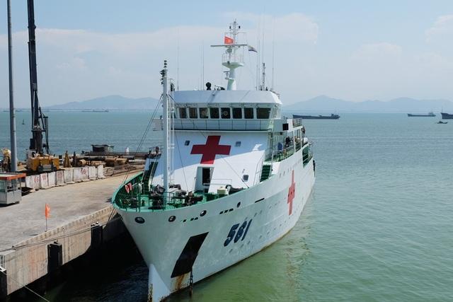 Tàu Bệnh viện Khánh Hòa 1 của Hải quân Việt Nam cũng đến Đà Nẵng tham dự các hoạt động của PP 17