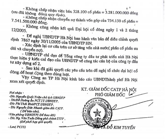 Công an TP Hà Nội đã chỉ ra những sai phạm cốt lõi và trách nhiệm cá nhân trong vụ cổ phần hoá tại HACINCO.