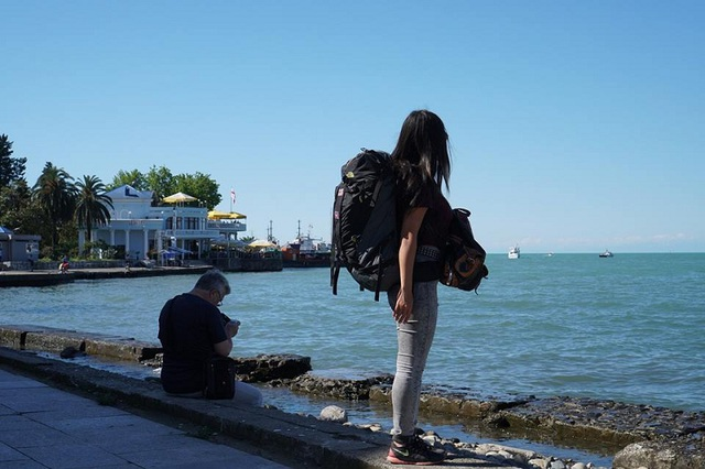 Biển Đen, Batumi, Georgia/Gruzia, tháng 6, năm 2017