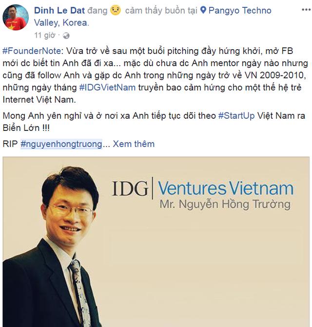 Những dòng status bày tỏ sự thương tiếc với ông Nguyễn Hồng Trường