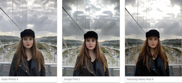 iPhone X thậm chí chụp đẹp hơn Galaxy Note8 và Google Pixel 2 trong điều kiện độ tương phản cao và ánh sáng mạnh.