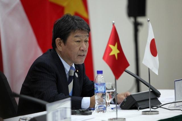 Bộ trưởng Chính sách Kinh tế Tài chính Nhật Bản Toshimitsu Motegi (Ảnh: Quý Đoàn)