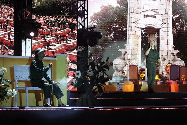 Tiếp nối và tự hào, mở ra với ca sĩ Kasim Hoàng Vũ và nhạc phẩm Người lính già và hoa hồng thắm.