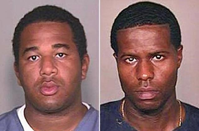 Chân dung Joseph Jenkins (trái) và Charles Walker (phải) hai kẻ đã bước ra khỏi trại giam một cách đàng hoàng nhờ giấy giảm án giả mạo.