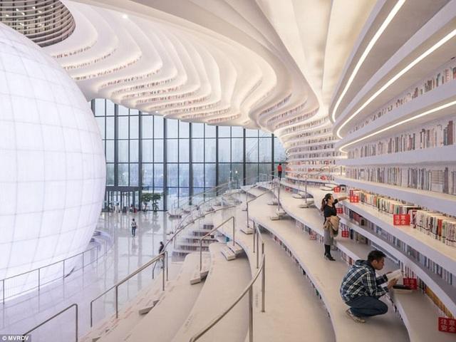 Thiết kế của thư viện này lấy cảm hứng từ nhãn cầu.