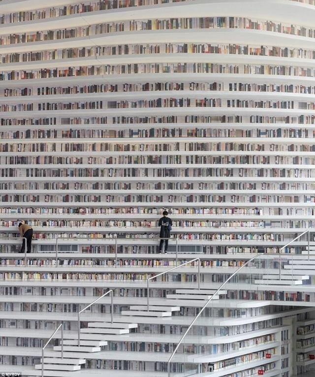 Ý tưởng thiết kế của thư viện này đã ngay lập tức khiến giới kiến trúc trên khắp thế giới phải sửng sốt bởi một ý tưởng độc đáo hiếm thấy. Sau khi hoàn thành, thư viện này chứa khoảng 1,2 triệu cuốn sách.