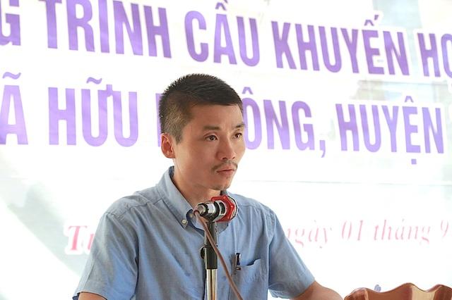Nhà báo Phạm Tuấn Anh - Phó Tổng biên tập Báo điện tử Dân trí phát biểu tại buổi lễ