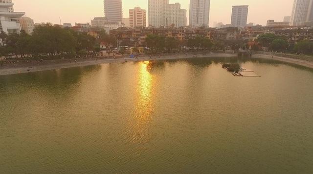 Toàn cảnh hồ Thành Công trước đề xuất cho lấp để xây nhà - 6