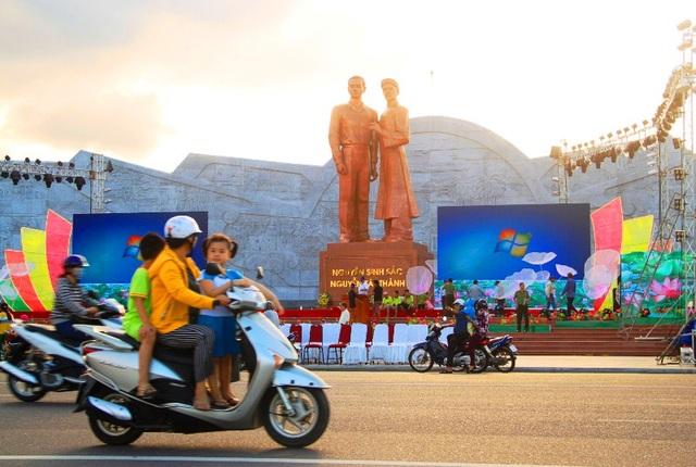 Tượng đài Nguyễn Sinh Sắc - Nguyễn Tất Thành hứa hẹn sẽ là điểm tham quan văn hóa - lịch sử thu hút đông đảo người dân và du khách