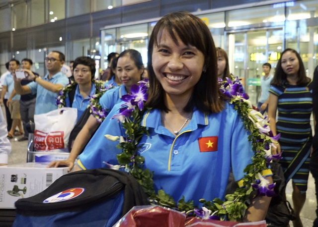 Nụ cười tươi trẻ của tuyển thủ Nguyễn Thị Liễu.