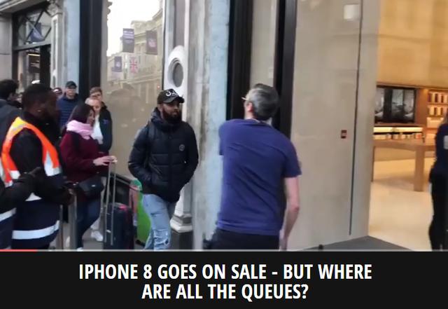 Các tờ báo lớn thay nhau giật tít: iPhone 8 mở bán - nhưng đám đông đâu mất rồi?