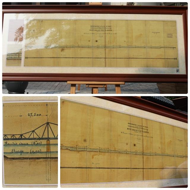 Bản vẽ tổng thể các nhịp cầu của công trình cầu Long Biên - một công trình rất được người Pháp cũng như người dân thủ đô quan tâm.