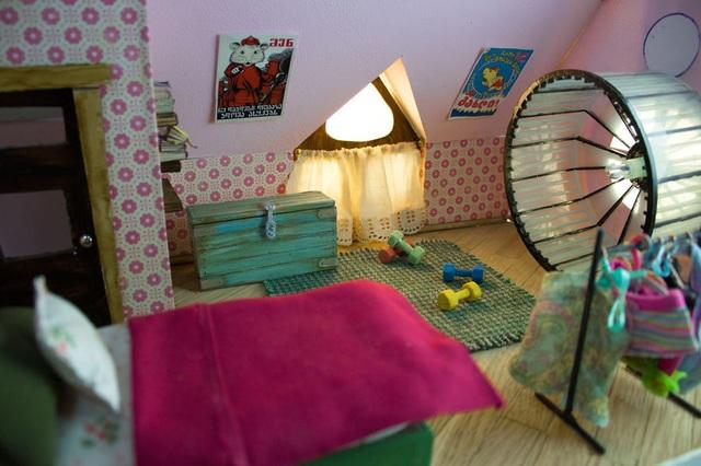 Phòng ngủ của một cô chuột cái.