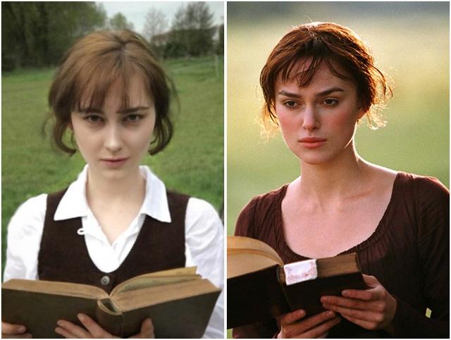 """Nhập vai Elizabeth Bennet (nữ diễn viên Keira Knightley) trong phim """"Pride and Prejudice"""" (Kiêu hãnh và định kiến - 2005)."""