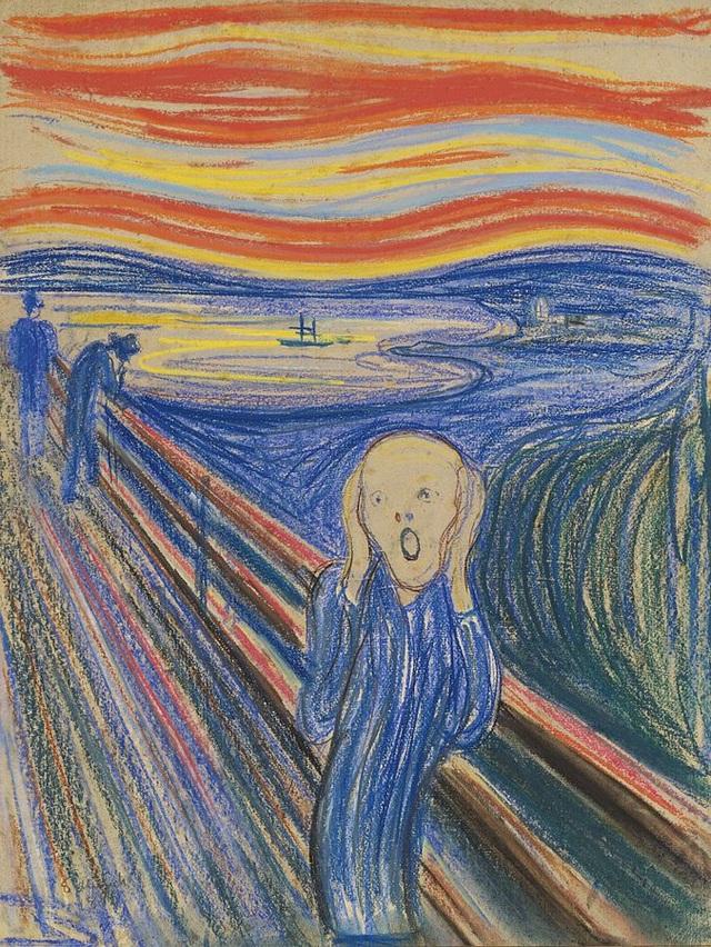 """Đứng thứ 7 là bức """"The Scream"""" (Tiếng thét - 1895) của danh họa người Na Uy Edvard Munch. Bức vẽ từng được mua hồi năm 2012 với mức 119,9 triệu USD, hiện giờ, con số ấy tương đương 125,1 triệu USD (2.843 tỷ đồng)."""