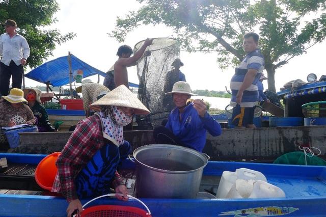 Theo những người dân sống nghề câu, lưới cho biết, nhờ con nước nổi, mỗi ngày họ kiếm được từ 200.000-500.000 đồng nhờ nghề đánh bắt cá