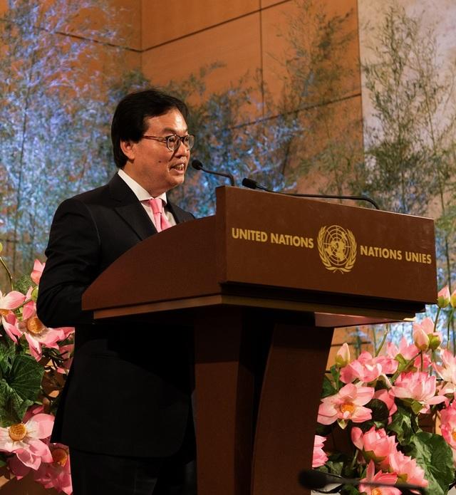 Ông Dương Chí Dũng - Đại sứ đặc mệnh toàn quyền của Việt Nam tại Liên Hiệp Quốc phát biểu.