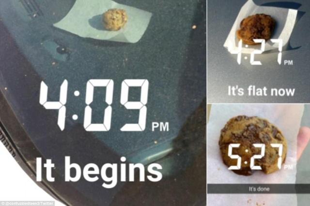 Người dân ở bang Arizona, Mỹ đã tận dụng nguồn nhiệt năng để nướng bánh. Miếng bột đặt trên xe oto chưa đầy 1,5h đồng hồ đã được nướng chín. (Ảnh: Twitter)