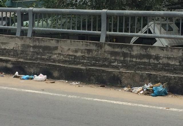 Và những túi nilon chứa rác đã bị vỡ ra... (hình ảnh ngày 4/3)