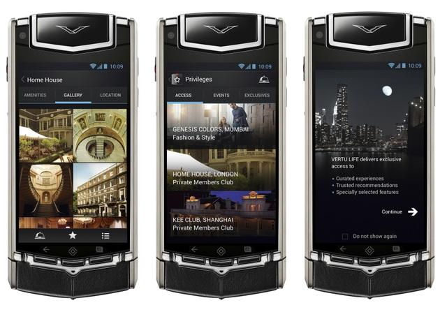 Vertu Ti là smartphone đầu tiên của hãng chạy hệ điều hành Android.