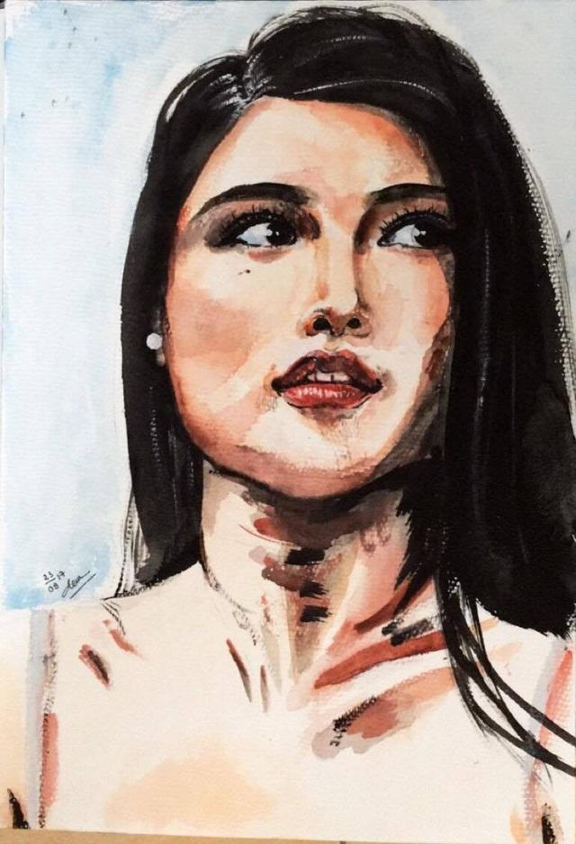 Nhan sắc Việt tại Hoa hậu Quốc tế gây bất ngờ bởi năng khiếu hội họa - 3
