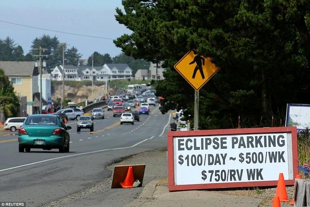 Dịch vụ bãi đỗ xe ăn theo nhật thực toàn phần tại bang Oregon. Theo đó, phí đỗ xe một ngày tại đây là 100 USD. (Ảnh: Reuters)