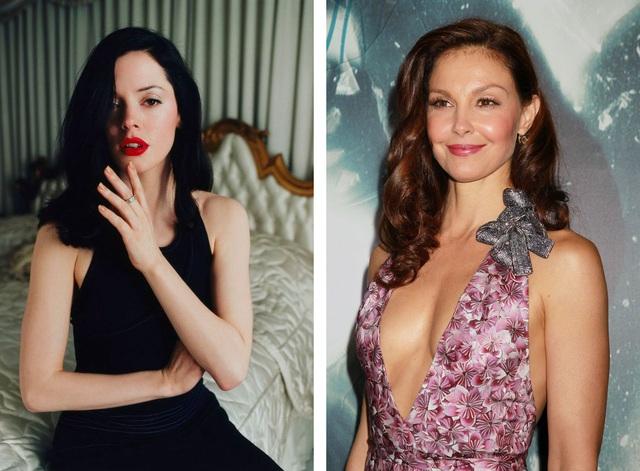 Hiện tại, ở Hollywood, những nữ diễn viên dám lên tiếng nói về hành vi quấy rối tình dục của Harvey Weinstein mới chỉ có Rose McGowan (trái) và Ashley Judd (phải).
