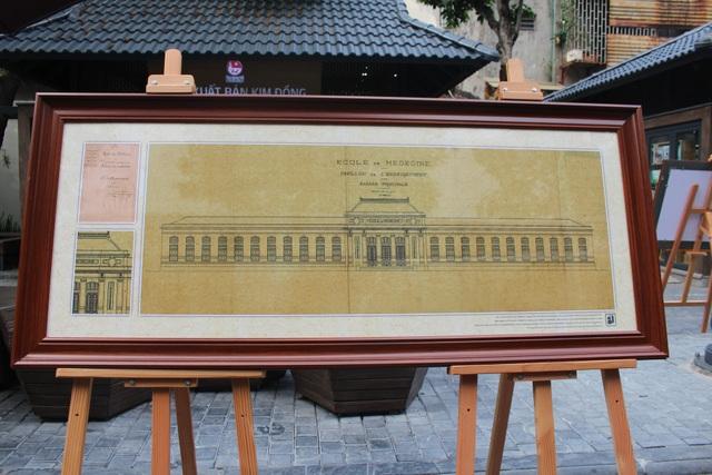 Một số bản vẽ hành chính và kiến trúc của công trình Đại học Đông Dương.