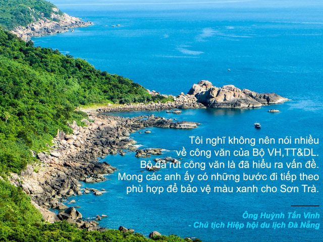 """Xem thêm: Ông Huỳnh Tấn Vinh: """"Dù thế nào tôi vẫn bảo vệ báu vật Sơn Trà"""""""