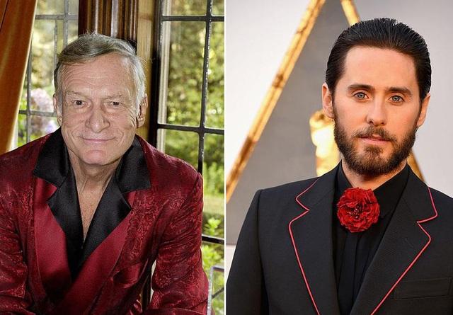 Ông trùm Playboy - Hugh Hefner (trái) và nam diễn viên Jared Leto (phải)