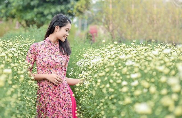 Bộ ảnh thiếu nữ bên vườn cúc họa mi được nhiếp ảnh Lê Xuân Bách thực hiện trong những ngày đầu đông Hà Nội.