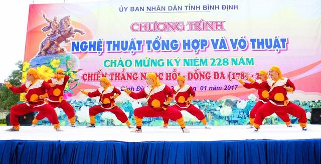 Biểu diễn võ thuật cổ truyền Bình Định tại Bảo tàng Quang Trung