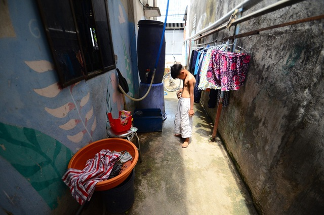 Nơi tắm giặt của cả gia đình.