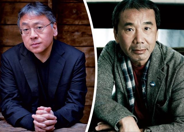 Kazuo Ishiguro (trái) - Haruki Murakami (phải)