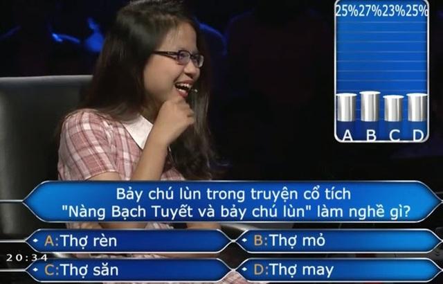 Câu hỏi hóc búa làm khó người chơi là kiến thức mà trẻ em cũng có thể trả lời?