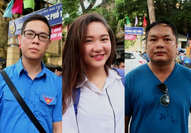Thí sinh, phụ huynh và lực lượng thanh niên tình nguyện cho rằng cách thức tổ chức thi ngay tại địa phương giúp giảm áp lực kì thi một cách đáng kể