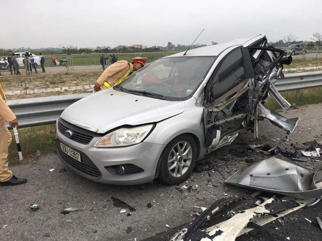 Một trường hợp tai nạn vì tốc độ trên cao tốc Hà Nội - Hải Phòng
