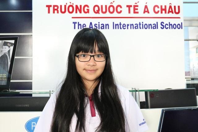 Nguyễn Hoàng Thiên Kim - học sinh Trường Quốc tế Á Châu (Asian School).