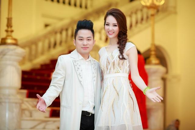 Thụy Vân và ca sĩ Tùng Dương.