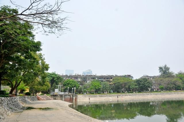 Toàn cảnh hồ Thành Công trước đề xuất cho lấp để xây nhà - 9